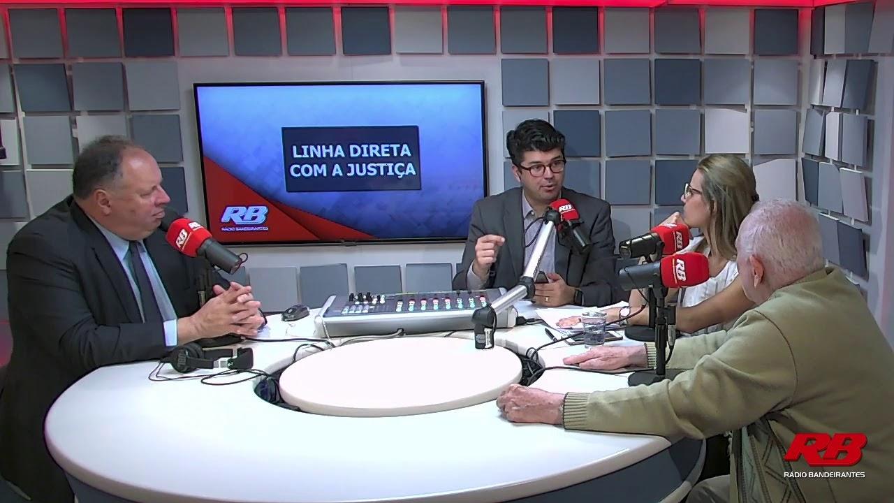 """Follow our weekly participation in the """"Linha Direta com a Justiça"""" program at Rádio Bandeirantes"""